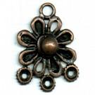 hangers 33mm brons bloem metaal