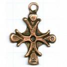 hangers 38mm brons kruis metaal