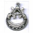 hangers 23mm zilver rij metaal