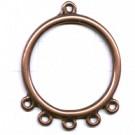 hangers 44mm brons rij metaal