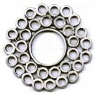 hangers 42mm zilver rond metaal