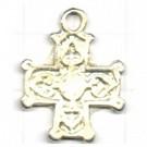 hangers 24mm zilver kruis metaal