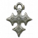 hangers 50mm oudzilver kruis metaal