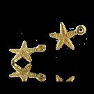 Hele mooie zee ster bedeltjes 24k verguld