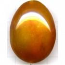 hoornkralen 20mm oranje ovaal exotisch