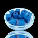 Houten kralen 10mm blauw blokje