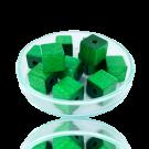 Houten kralen 10mm groen blokje