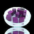 Houten kralen 10mm paars blokje
