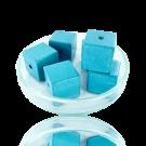 Houten kralen 14mm babyblauw blokje