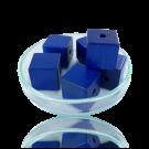 Houten kralen 14mm blauw blokje