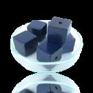 Houten kralen 14mm donkerblauw blokje
