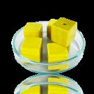 Houten kralen 14mm geel blokje