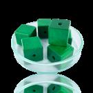 Houten kralen 14mm groen blokje