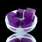 Houten kralen 14mm paars blokje