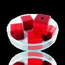 Houten kralen 14mm rood blokje