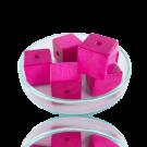 Houten kralen 14mm roze blokje