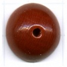 Halve houten kralen 18mm bruin rond kleurnummer 6539