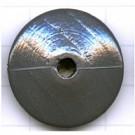 houten kralen 30mm grijs discus