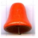 houten kralen 10mm oranje klokje