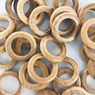 Houten kralen ringen rond 20mm naturel