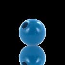 houten kralen 10mm blauw rond kleur 6654