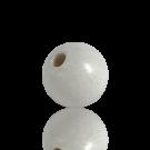 houten kralen 15mm wit rond kleurnummer 6000
