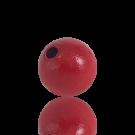 houten kralen 15mm rood rond kleurnummer 6010