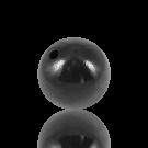 houten kralen 25mm zwart rond