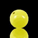 houten kralen 25mm geel rond