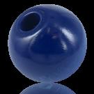 Houten kralen 38mm rond blauw