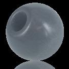 Houten kralen 38mm rond grijs