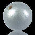 Houten kralen 38mm rond zilver