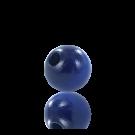 houten kralen 6mm blauw rond kleurnummer 6030