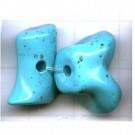 imitatie koraal 17mm turquoise kunststof