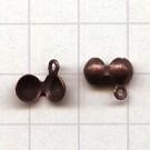 kalotjes 6mm brons rond