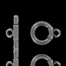 Kapittelsluitingen 19mm oudzilver rond