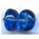 kapjes 8mm blauw glas