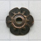 kapjes 14mm brons bloem