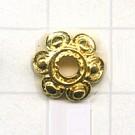 kapjes 12mm goud bloem tin