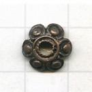 kapjes 12mm brons bloem
