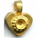 kastjes 17mm goud hartje setting