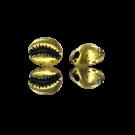 Oudgoud metalen kauri kralen 13mm