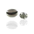 Oudzilver metalen kauri kralen 18mm