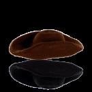 keramiek kralen 25mm bruin hoed
