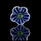 keramiek kralen 13mm blauw bloem