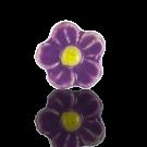 keramiek kralen 13mm roze bloem