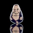 keramiek kralen 13mm paars boeddha