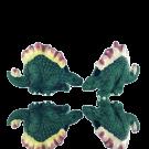keramiek kralen 28mm groen dinosaurus