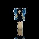 keramiek kralen 15mm blauw engel elfje
