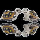 keramiek kralen 27mm wit schildpad